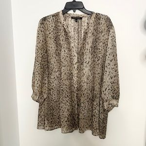 Cynthia Steffe Animal/Leopard Print Night Out Top